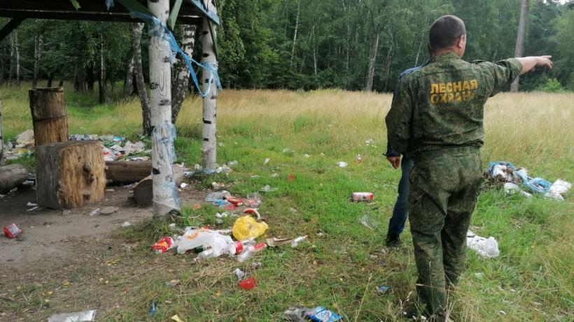 На землях лесного фонда Подмосковья провели «Антимусорный рейд»