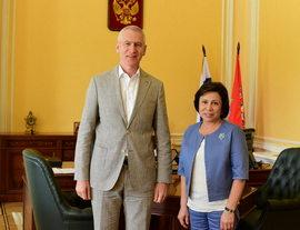 Олег Матыцин и Ирина Роднина обсудили вопросы развития школьного спорта