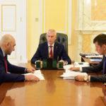 Олег Матыцин и президент Российского студенческого спортивного союза Сергей Сейранов обсудили развитие студенческого спорта