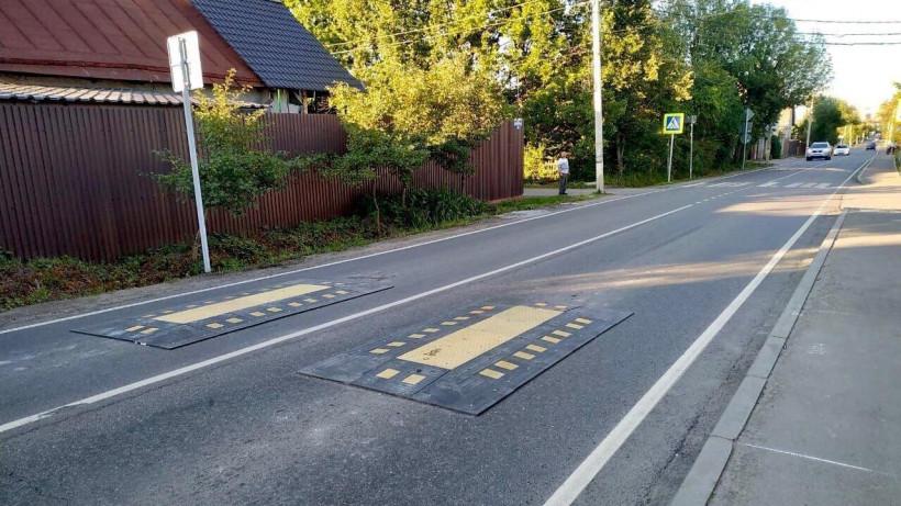 Первую «берлинскую подушку» для повышения безопасности на дороге установили в Подольске