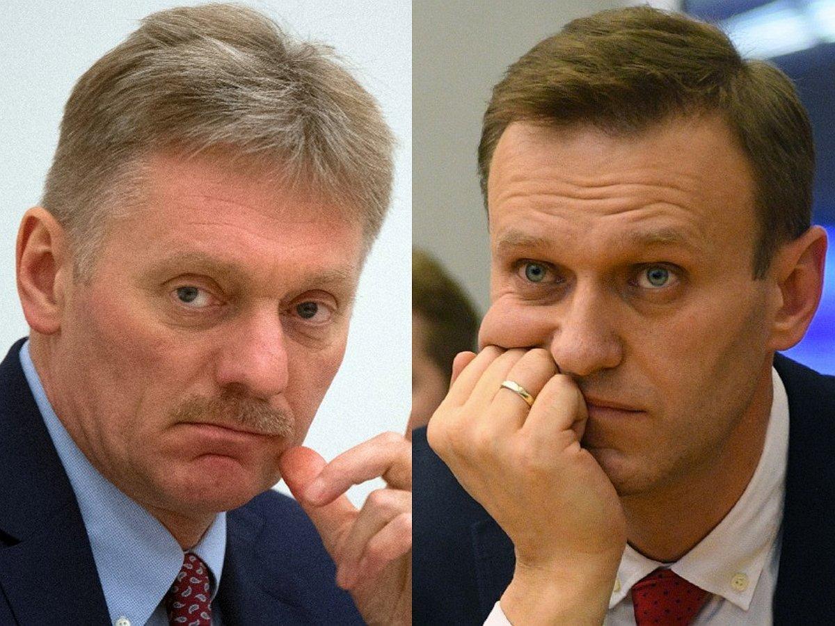 Песков пояснил причину отказа Кремля назвать Навального по имени