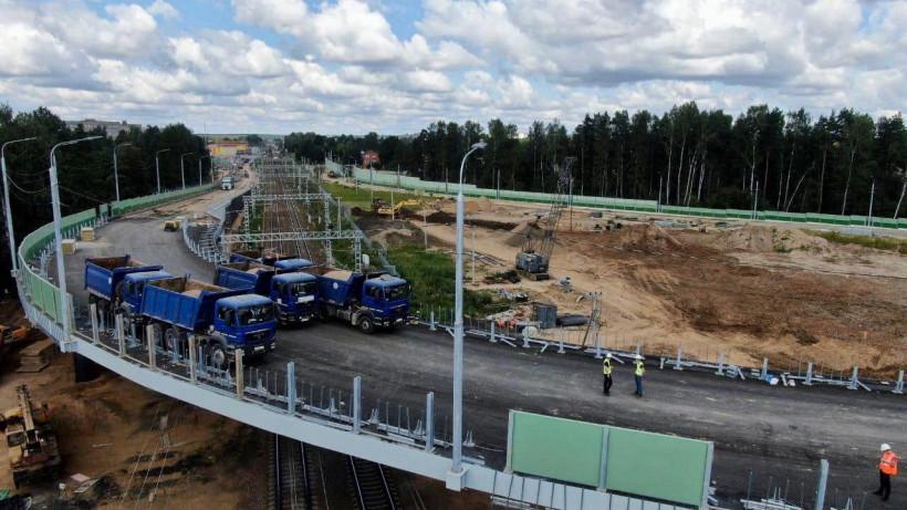 Путепровод в Дедовске прошел финальные испытания на прочность перед открытием