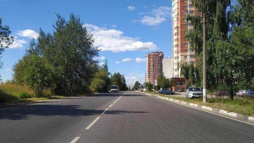 Ремонт дороги на Полевой улице завершился во Фрязине
