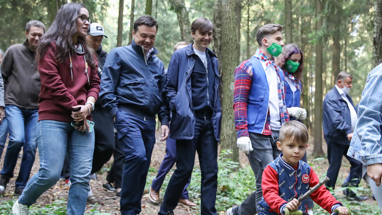 Андрей Воробьев и Сергей Кравцов дали старт экомарафону в Красногорске