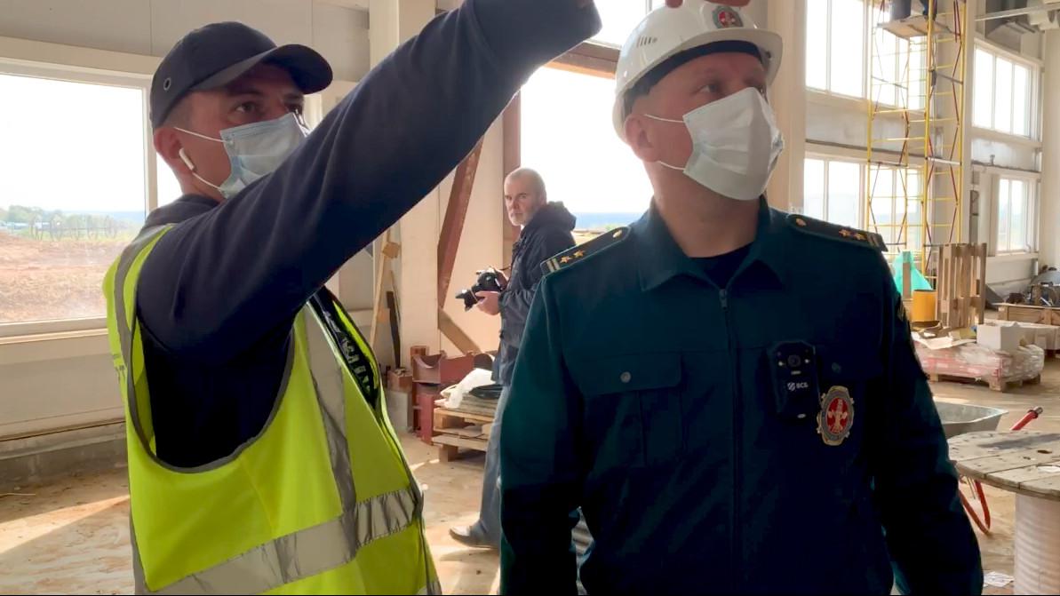 Главгосстройнадзор проверил ход строительства тепличного комплекса в Серпухове