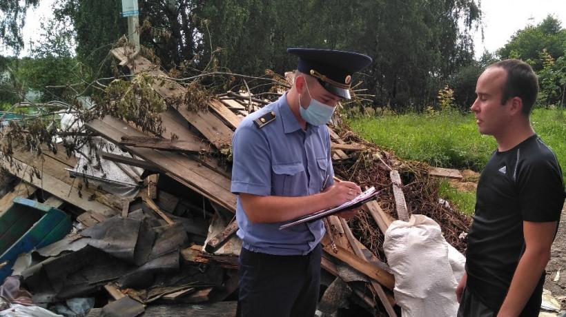 Госадмтехнадзор пресекает сброс строительного мусора на контейнерные площадки региона