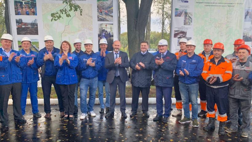 Новый канализационный напорный коллектор запустили в Подольске