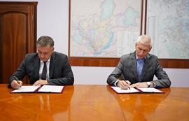 Олег Матыцин и врио губернатора Иркутской области Игорь Кобзев обсудили вопросы развития доступной спортивной инфраструктуры в регионе
