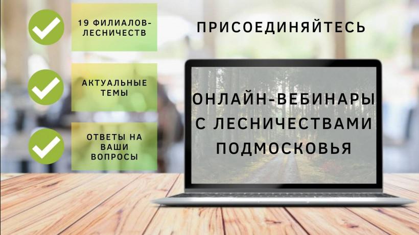 Онлайн-вебинары с лесничествами Подмосковья состоятся 18 сентября