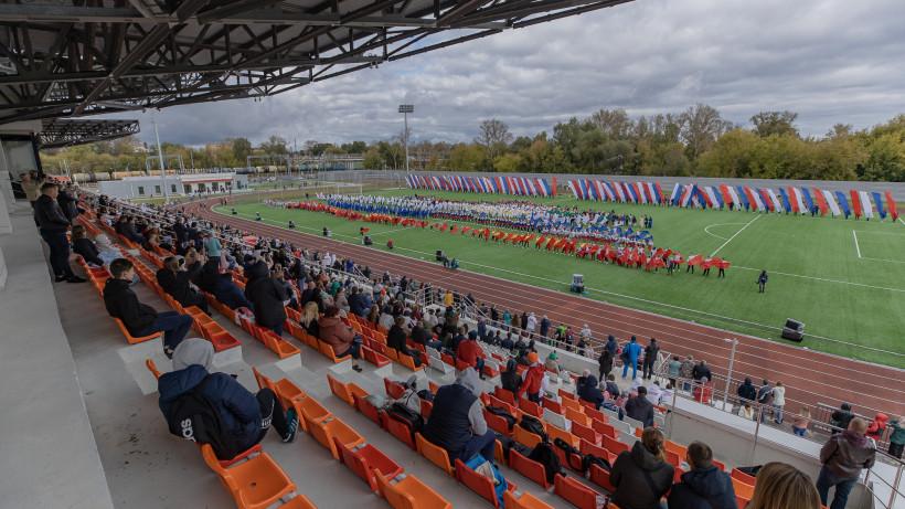 Стадион «Знамя труда» в Орехово-Зуево открыли после реконструкции