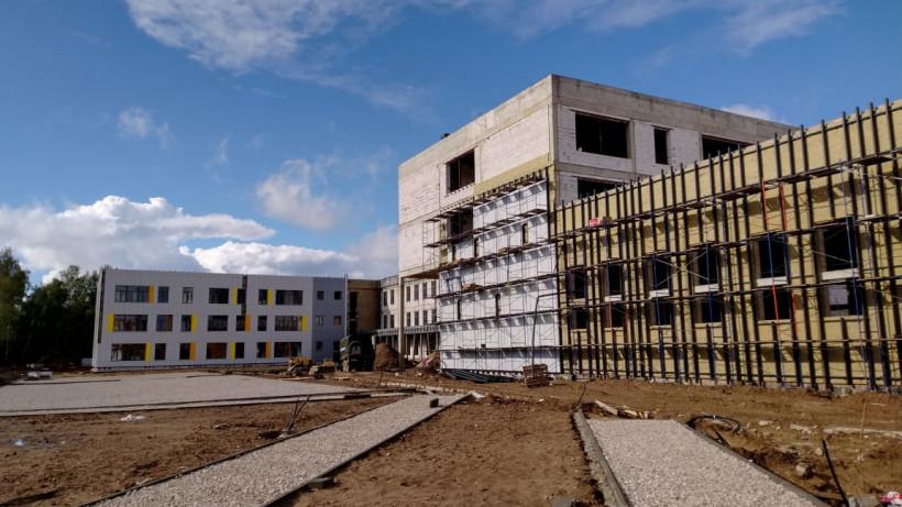 Строительство школы на 1,1 тыс. мест в Ивантеевке завершено почти на 60%