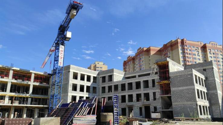 Строительство школы на 1,1 тыс. мест в Раменском округе выполнено на 40%