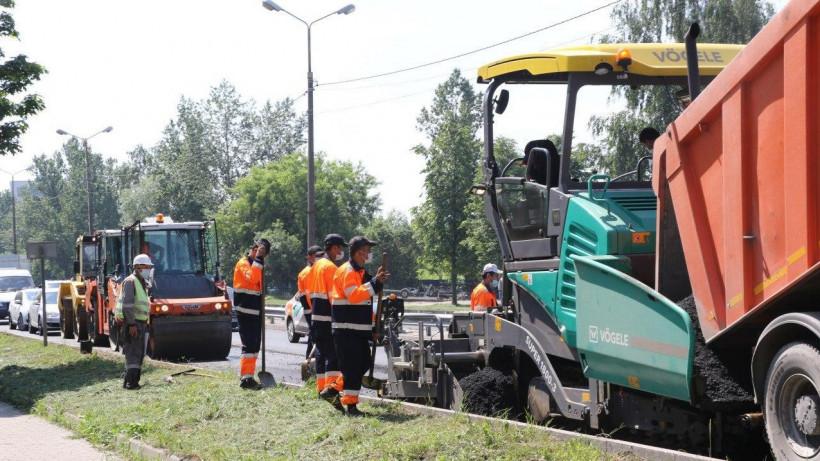 Тридцать девять участков дорог отремонтировали в Московской области за неделю