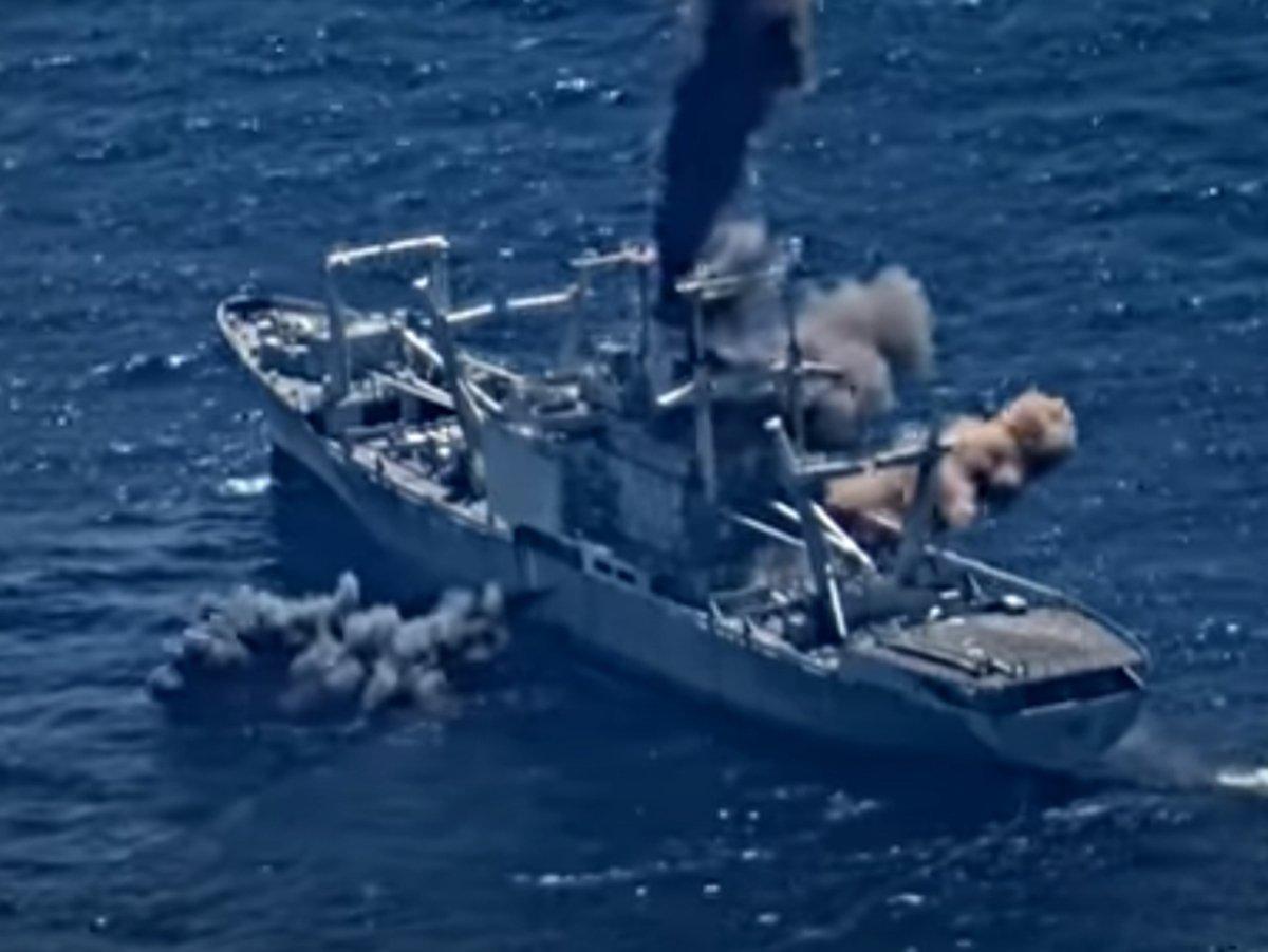 Уничтожение корабля ВМС США в Тихом океане попало на видео
