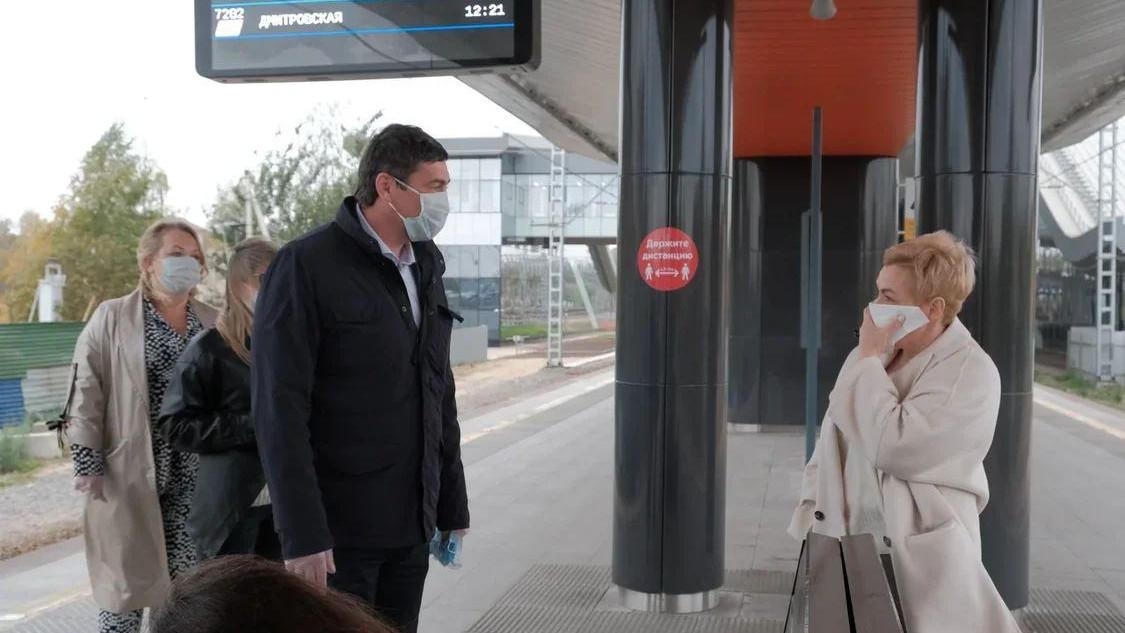 Алексей Гержик проверил соблюдение масочного режима на станции Опалиха в Красногорске