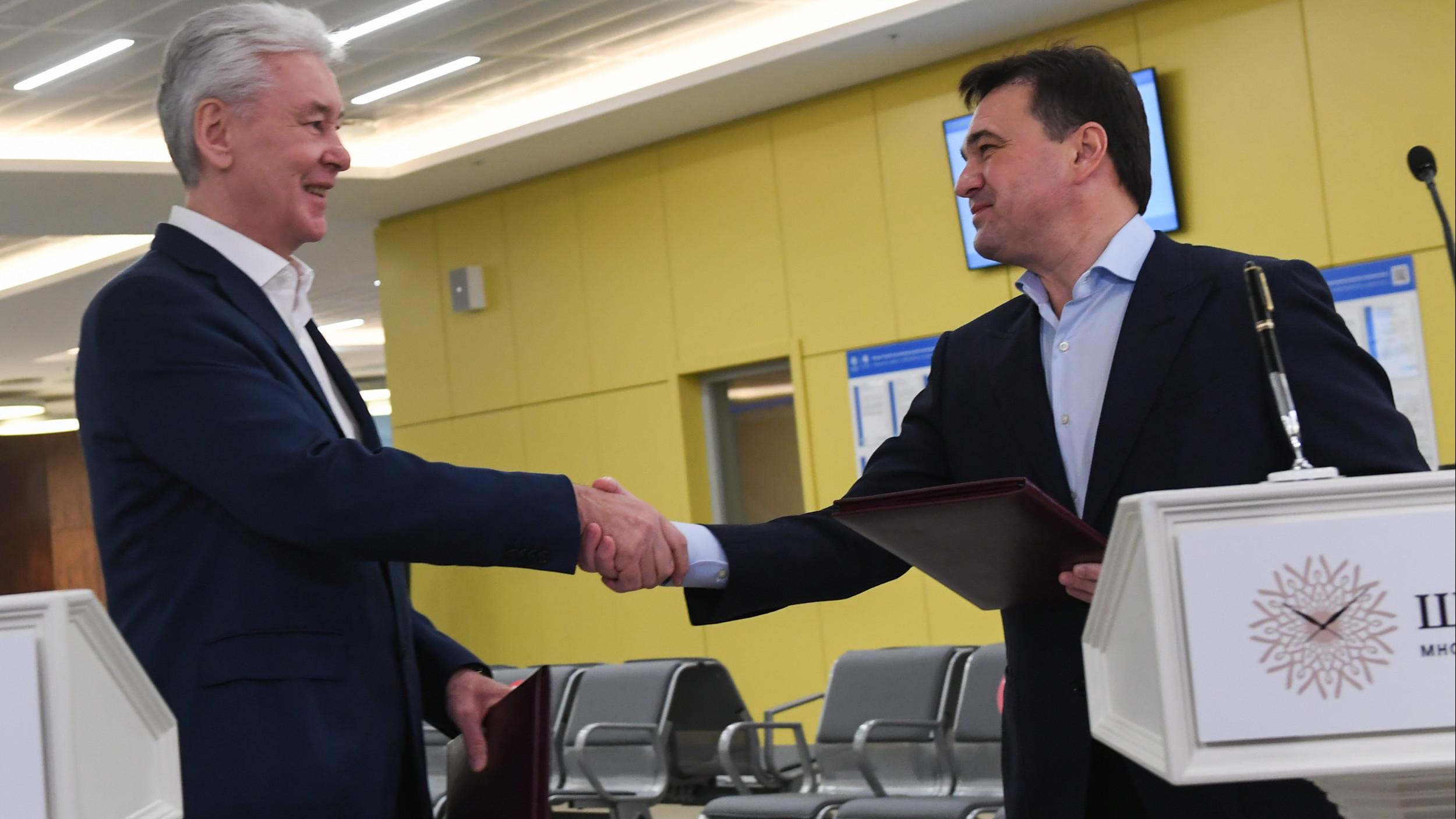 Андрей Воробьев и Сергей Собянин открыли автовокзал «Центральный» после реконструкции