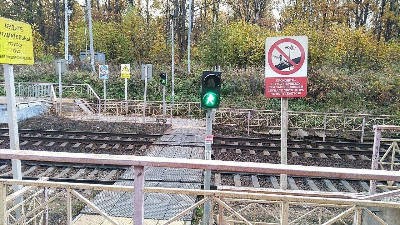 Десять нарушителей перехода через ж/д пути выявили на станции Семхоз в Сергиевом Посаде
