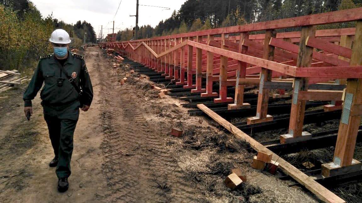 Главгосстройнадзор проверил ход реконструкции железнодорожной платформы в Павловском Посаде
