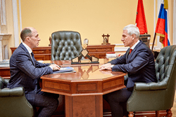 Олег Матыцин обсудил с главой Республики Алтай Олегом Хорохординым вопросы развития спорта в регионе