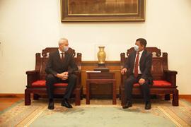 Олег Матыцин встретился с Чрезвычайным и Полномочным Послом КНР в Российской Федерации Чжаном Ханьхуэем