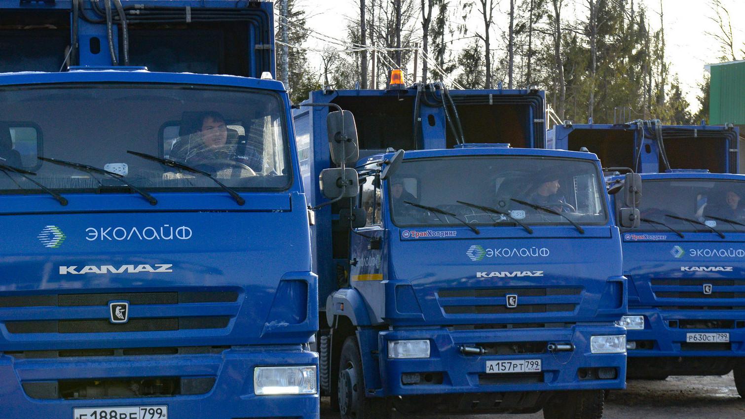 Пять новых мусоровозов появилось в автопарке оператора по обращению с ТКО в Подмосковье