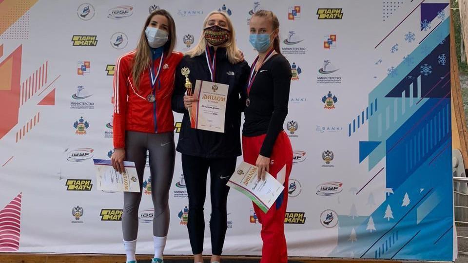 Подмосковная спортсменка Елена Никитина выиграла золотую медаль на Кубке России по скелетону