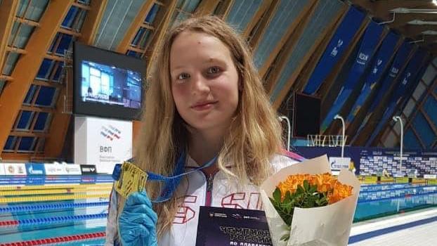 Подмосковная спортсменка завоевала золотую медаль чемпионата России по плаванию