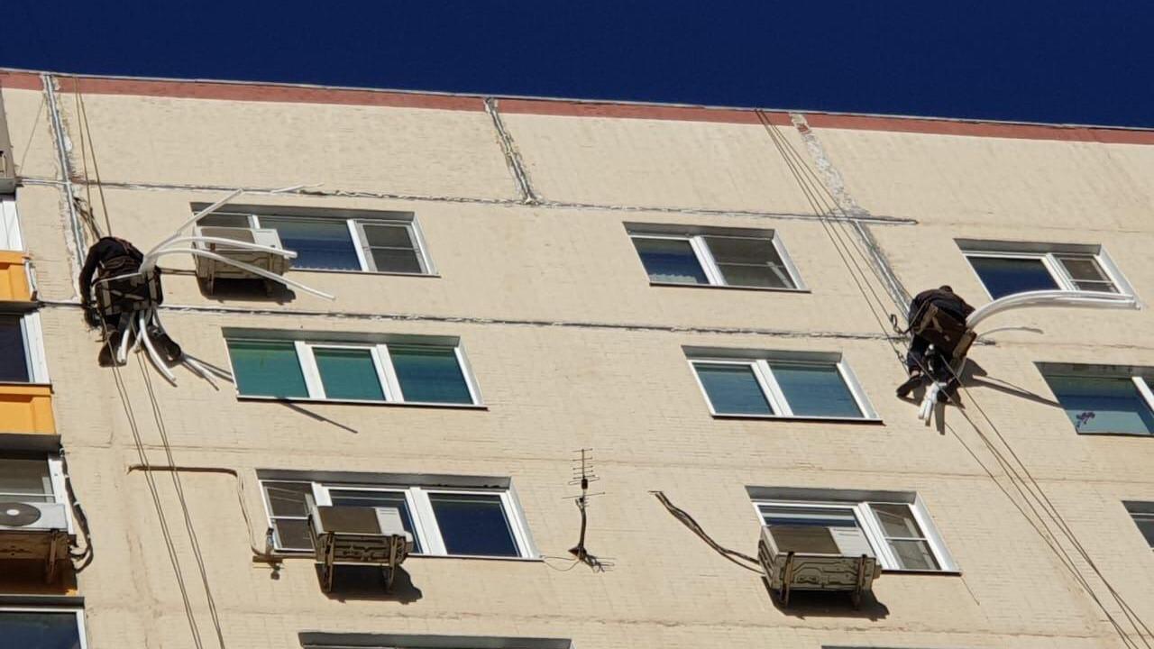 Управляющая компания в Электростали восстановила герметичность межпанельных швов жилого дома