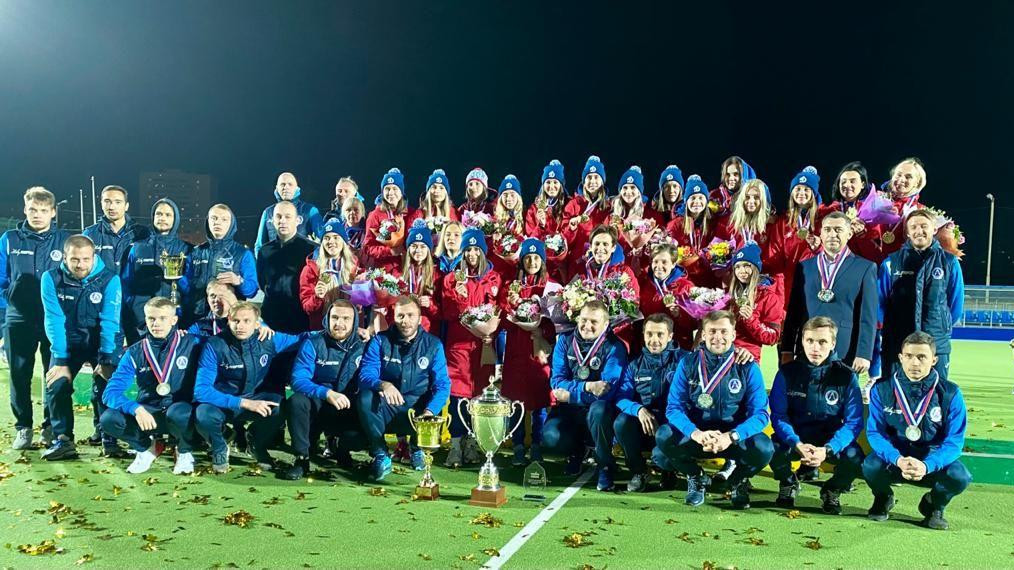Женская команда «Динамо-Электросталь» стала чемпионом России по хоккею на траве