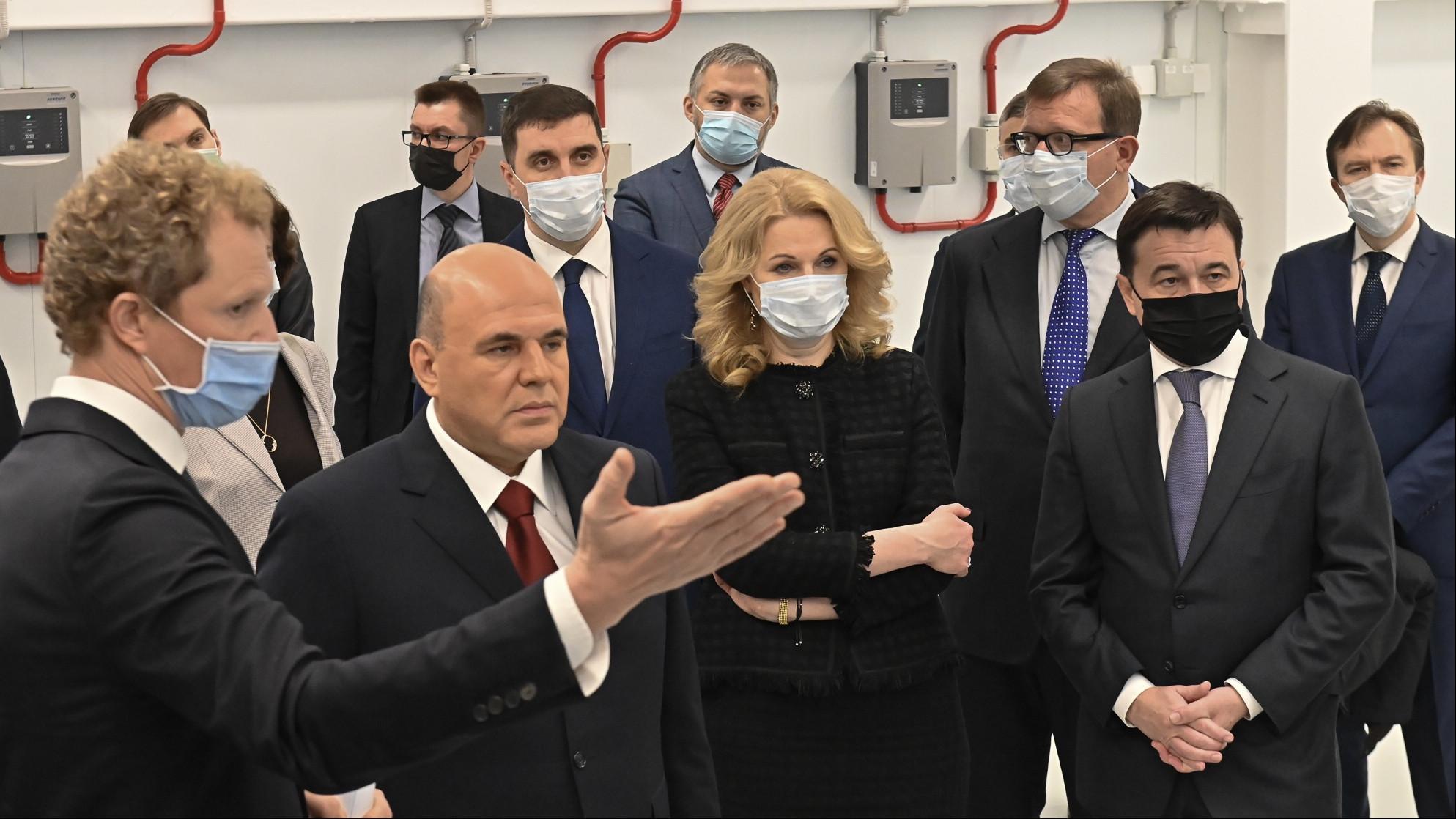 Андрей Воробьев посетил Дубну в составе делегации под руководством Михаила Мишустина