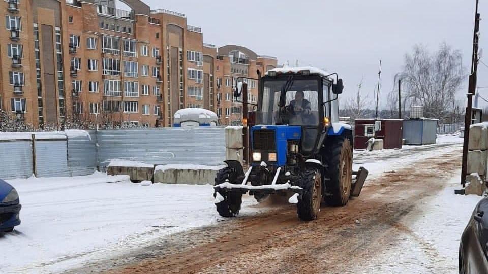 Главгосстройнадзор контролирует уборку снега на подмосковных стройках