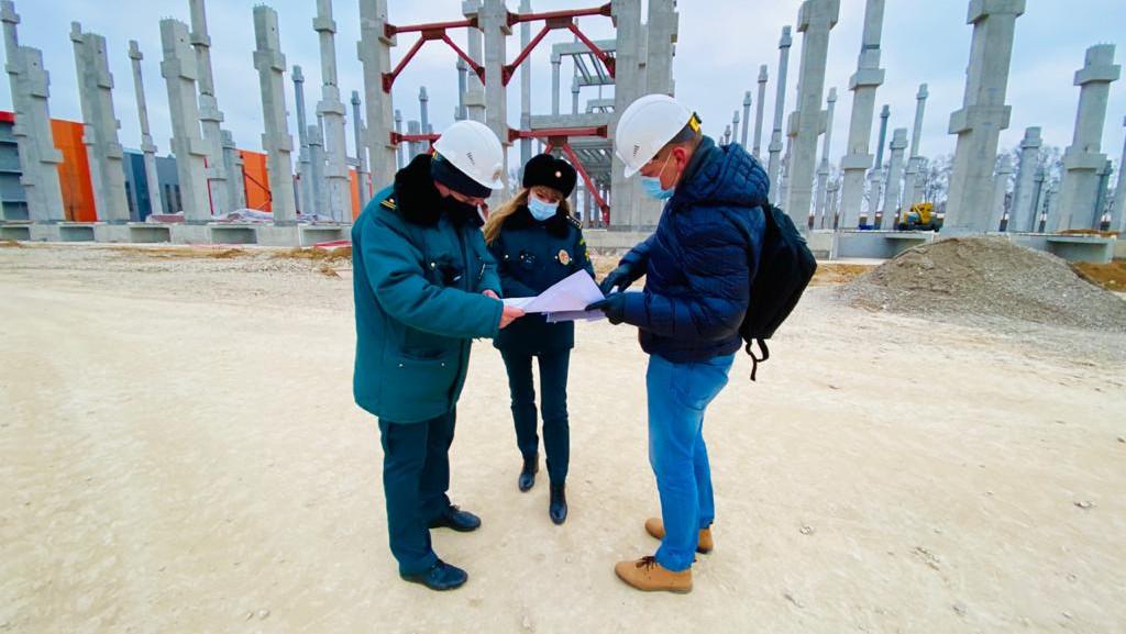 Главгосстройнадзор проверил ход строительства индустриального парка в Ленинском округе