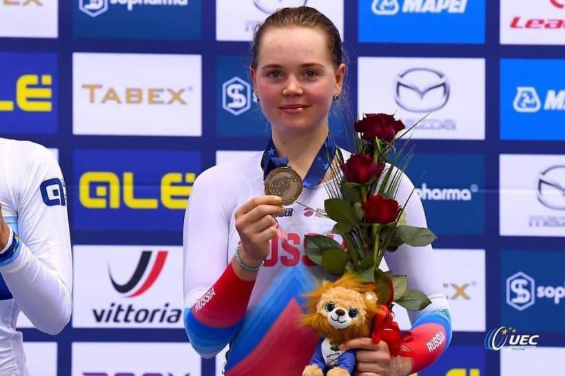 Мария Новолодская стала бронзовым призёром чемпионата Европы по велосипедному спорту