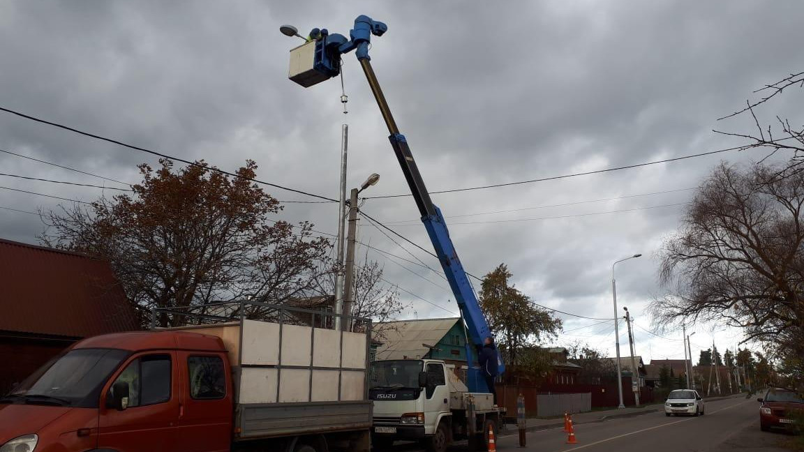 Одиннадцать светильников отремонтировали в Котельниках за неделю