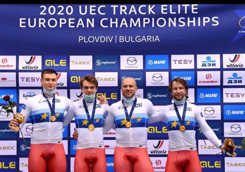 Павел Якушевский завоевал золото на чемпионате Европы по велоспорту