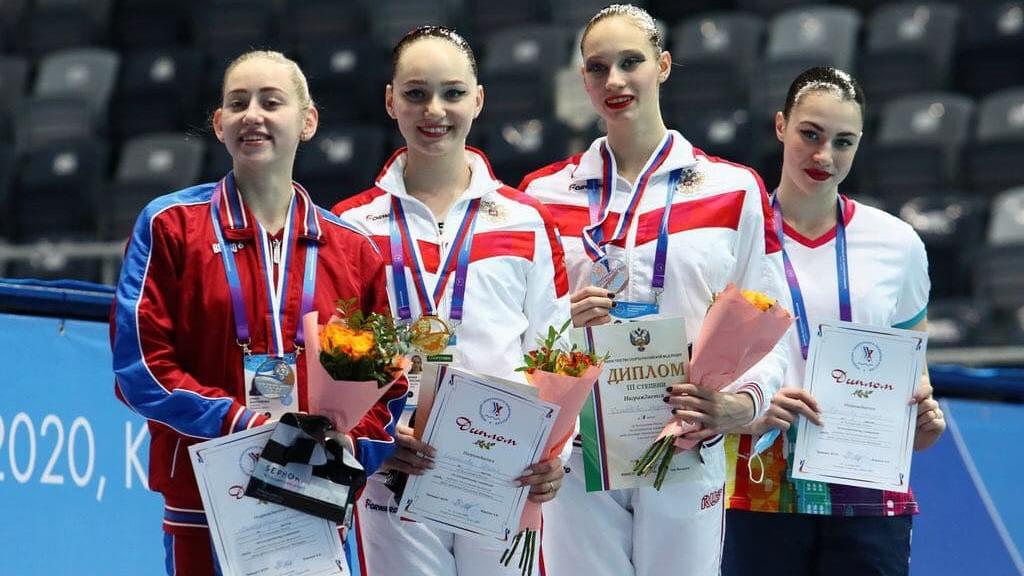 Подмосковные синхронистки завоевали 4 медали на чемпионате России