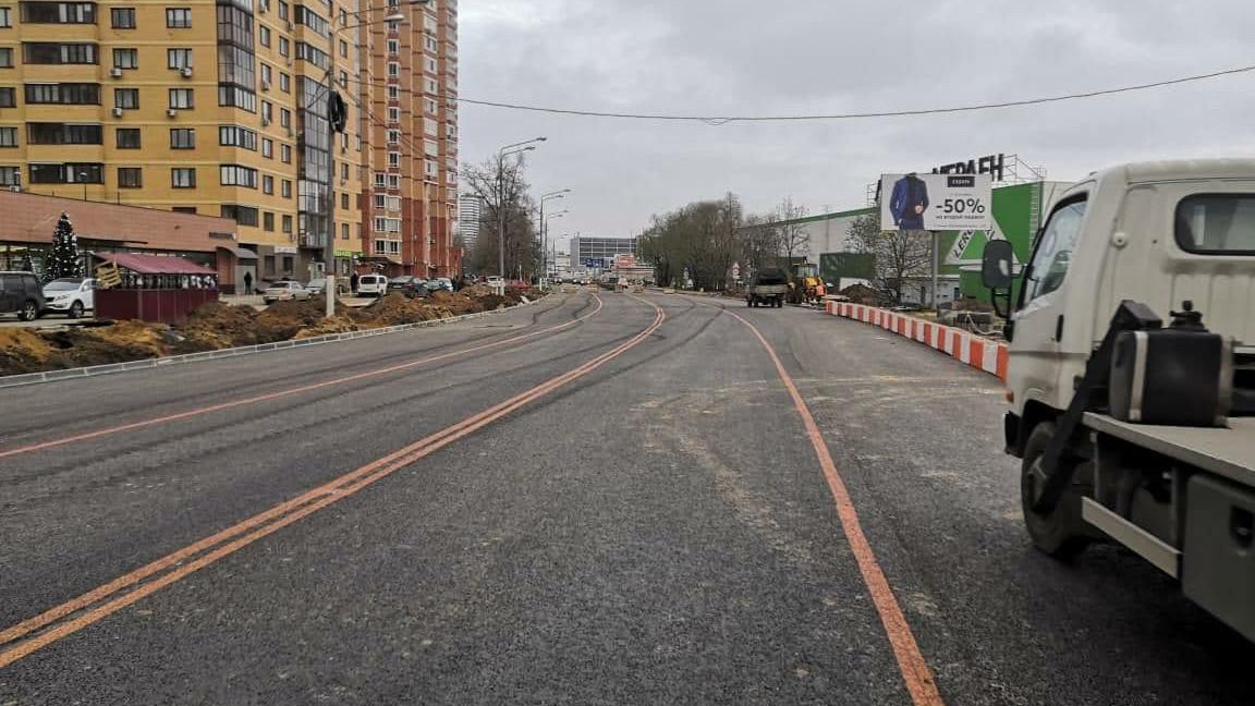 Реконструкцию перекрестка улиц 9 Мая и Дружбы завершили в Химках