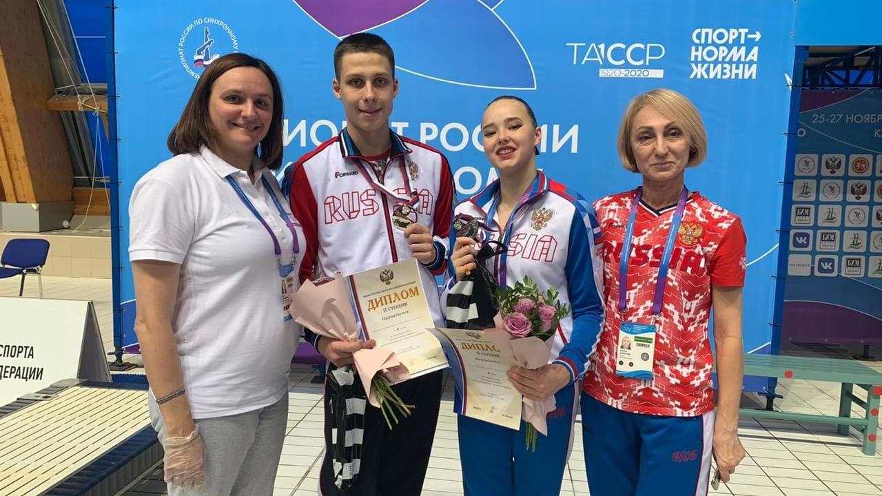Сборная Московской области по синхронному плаванию взяла золото чемпионата России
