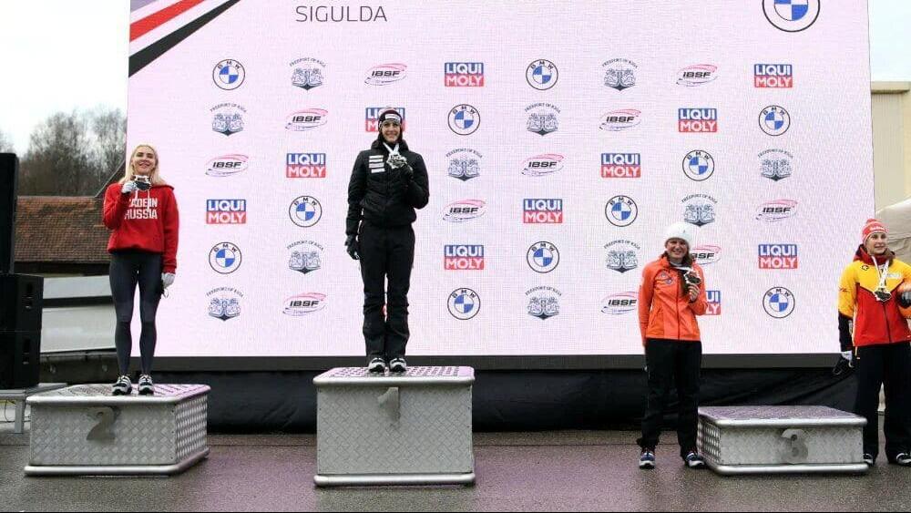 Спортсменка из Подмосковья завоевала серебро на втором этапе Кубка мира по скелетону