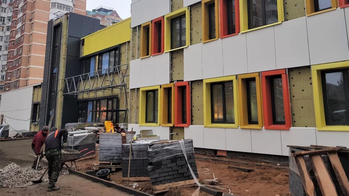 Строительство детского сада завершается в Балашихе