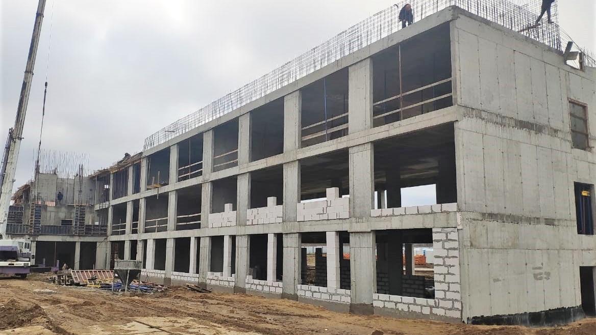 Строительство школы на 550 мест в Можайске выполнено на 25%
