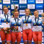 Женская и мужская сборные России по велоспорту на треке победили в командном спринте на Чемпионате Европы