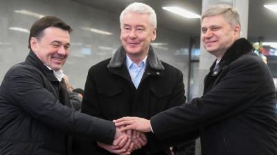 Андрей Воробьев принял участие в открытии станции МЦД-2 «Подольск» после реконструкции