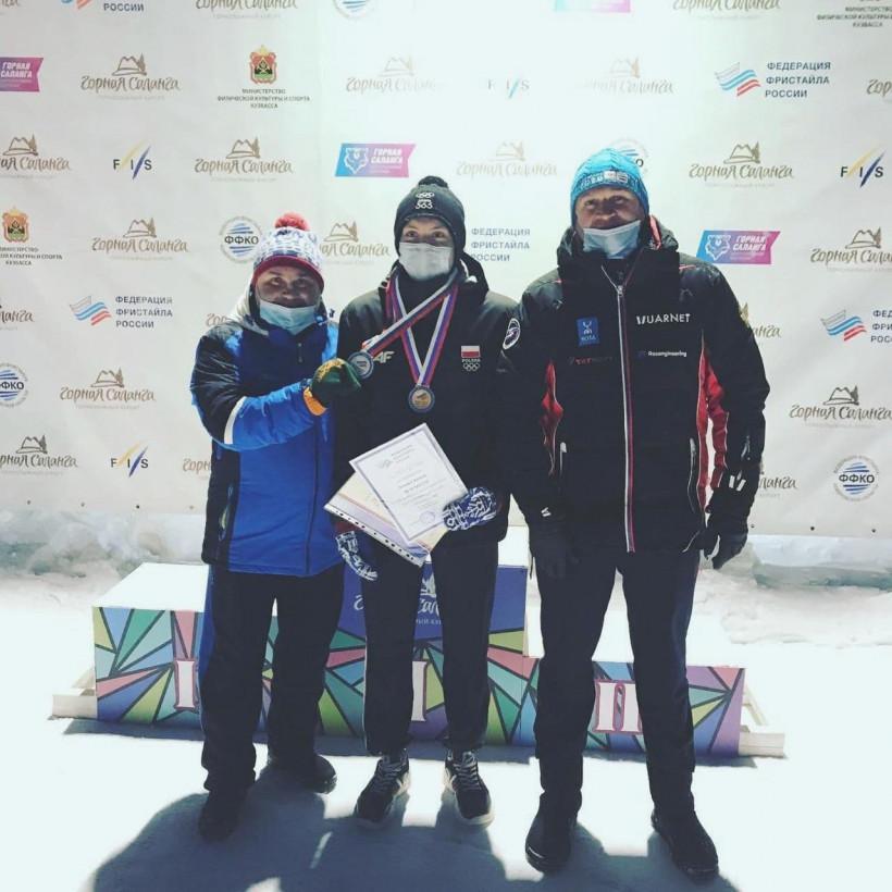 Артём Бажин стал серебряным призёром Кубка России по фристайлу