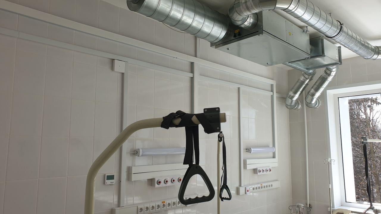 Система вентиляции в больнице