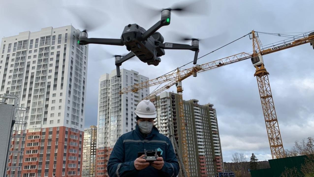 Дроны заставили строителей соблюдать сантребования еще на 60 объектах Подмосковья