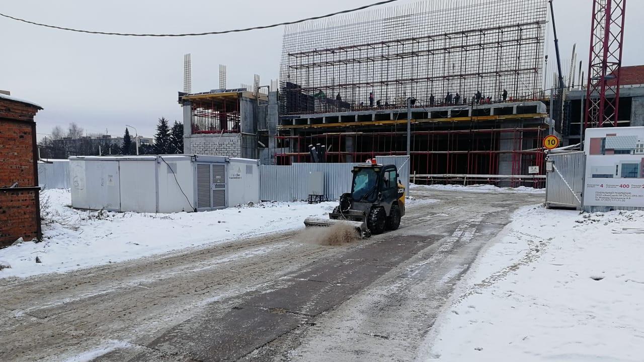 Уборка снега на строительных площадках