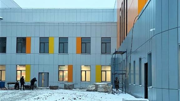 Готовность школы на 1,1 тыс. мест в Ивантеевке составляет 92%
