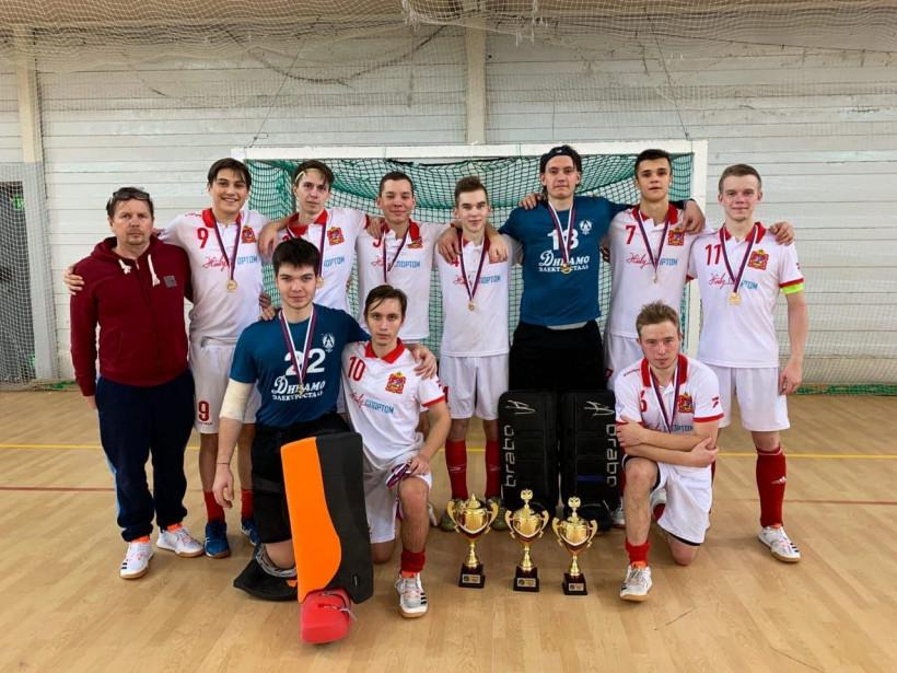 Юниорская сборная Подмосковья по индорхоккею стала лучшей на первенстве России