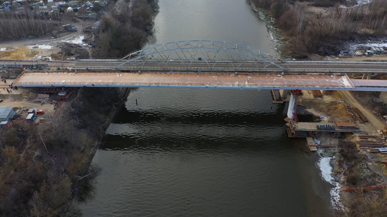 Надвижку пролетного строения Афанасьевского моста досрочно завершили в Воскресенске